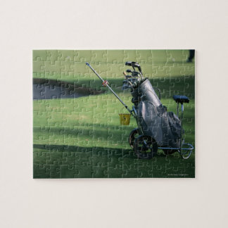 Golf clubs and golf bag jigsaw puzzle