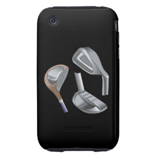 Golf Clubs Tough iPhone 3 Cases