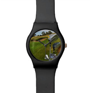 Golf_Clubs_Course,_Ladies_Black_May_Watch Wristwatch