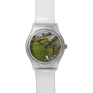 Golf_Clubs_Course,_Ladies_White_Watch Wristwatch