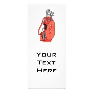 golf clubs customised rack card
