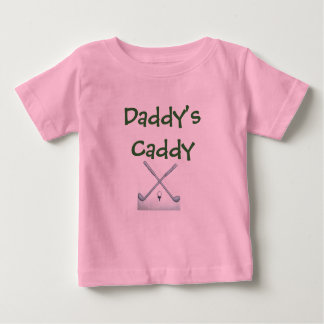 golf-clubs, Daddy's Caddy Baby T-Shirt