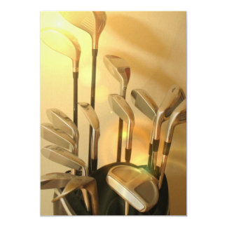 Golf Clubs in Bag Invitation