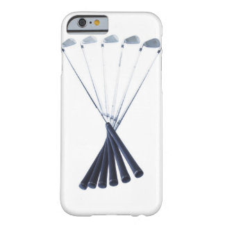 Golf clubs on white background barely there iPhone 6 case