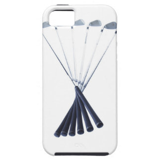 Golf clubs on white background case for the iPhone 5