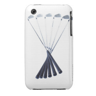 Golf clubs on white background iPhone 3 Case-Mate cases