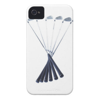 Golf clubs on white background iPhone 4 Case-Mate case