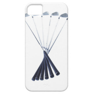 Golf clubs on white background iPhone 5 cover