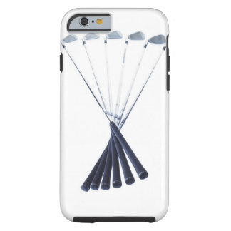 Golf clubs on white background tough iPhone 6 case