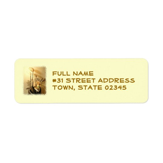 Golf Clubs Return Address Label