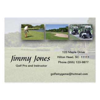 golf collage business card templates
