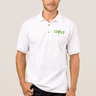 Golf collared polo argyle patterned t-shirt