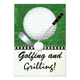 "Golf Cookout Event - SRF 5"" X 7"" Invitation Card"