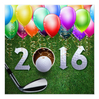 Golf, Country Club, New Year, Special Occasion 13 Cm X 13 Cm Square Invitation Card