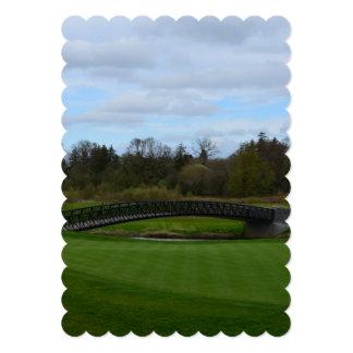 Golf Course Bridge 13 Cm X 18 Cm Invitation Card