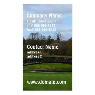 Golf Course Bridge Pack Of Standard Business Cards