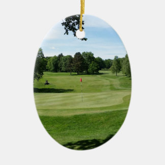 Golf Course Ceramic Oval Decoration