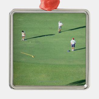 Golf course christmas ornament
