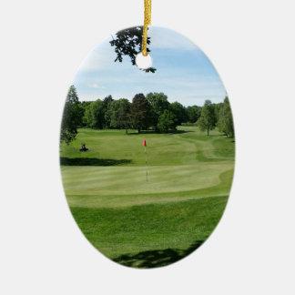 Golf Course Christmas Ornament