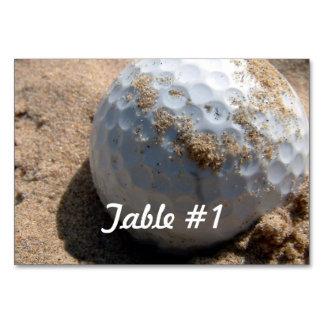 Golf Course Designs Table Card