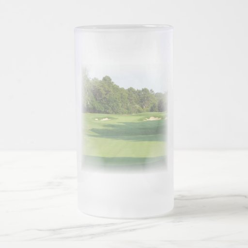 Golf Course Frosted Beer Mug
