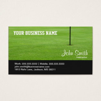 Golf Course Green business card