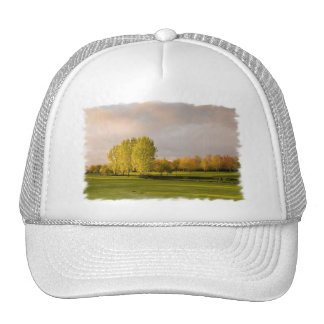 Golf Course in Autumn Baseball Hat