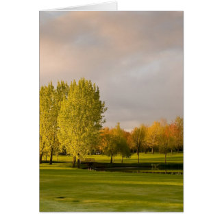 Golf Course in Autumn Greeting Card