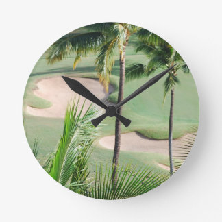 Golf Course in Tropics Clock