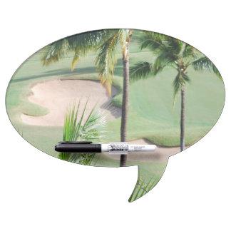Golf Course in Tropics Dry Erase White Board