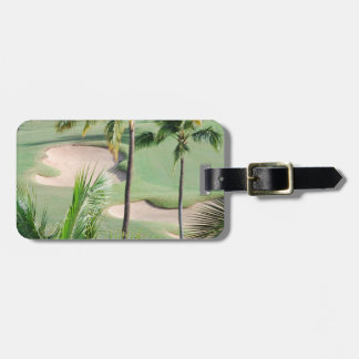 Golf Course in Tropics Luggage Tag