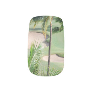 Golf Course in Tropics Nail Wraps