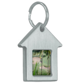 Golf Course in Tropics Pet Tag