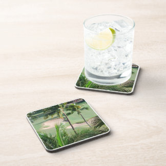 Golf Course in Tropics Set of Six Coasters