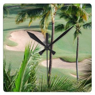 Golf Course in Tropics Wall Clock