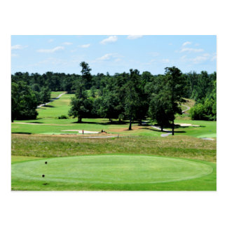 Golf course landscape postcard