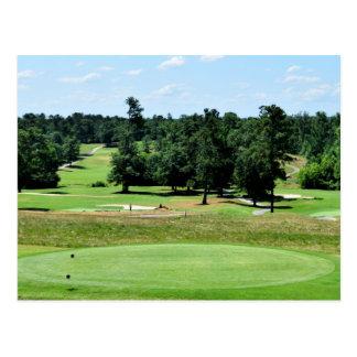 Golf course landscape postcard