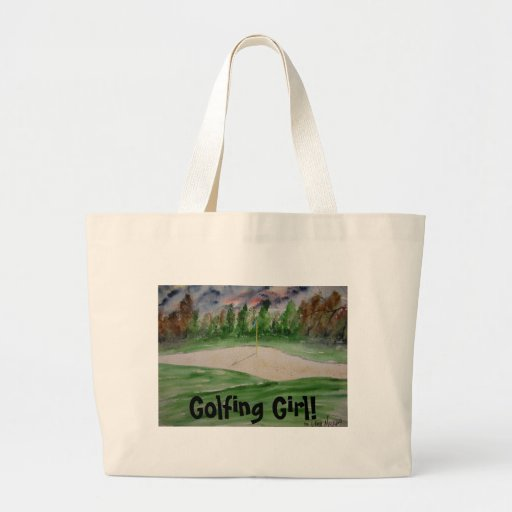 golf_course_large, Golfing Girl! Tote Bag