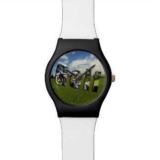Golf Course Logo, Ladies Black White May Watch