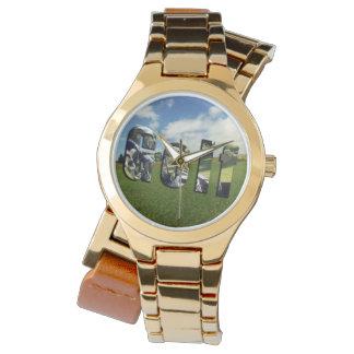 Golf Course Logo, Ladies Gold Wrap Watch