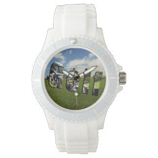 Golf Course Logo, Ladies White Sports Watch