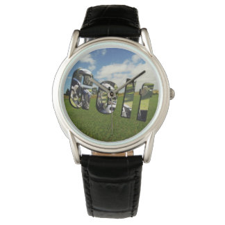 Golf Course Logo, Mens Classic Leather Watch
