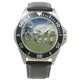 Golf Course Logo, Mens Leather Watch