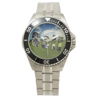 Golf Course Logo, Mens Stainless Steel Watch