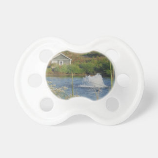 Golf Course pond and fountain Baby Pacifier