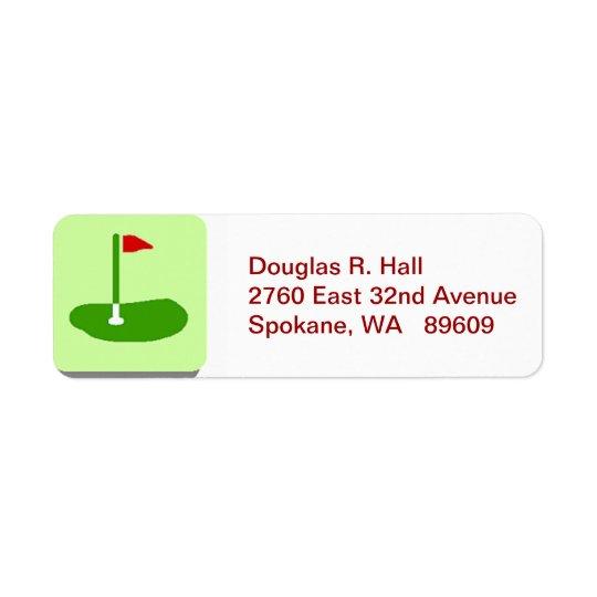 Golf Course Return Mailing Label
