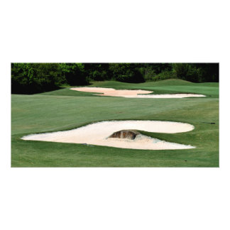 Golf Course Sand Traps Photo Card Template
