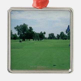 Golf Course Silver-Colored Square Decoration