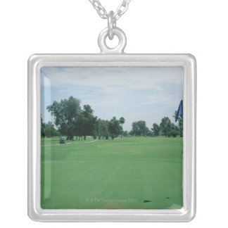 Golf Course Silver Plated Necklace