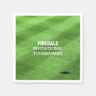 Golf Course Turf Personalized Disposable Napkin